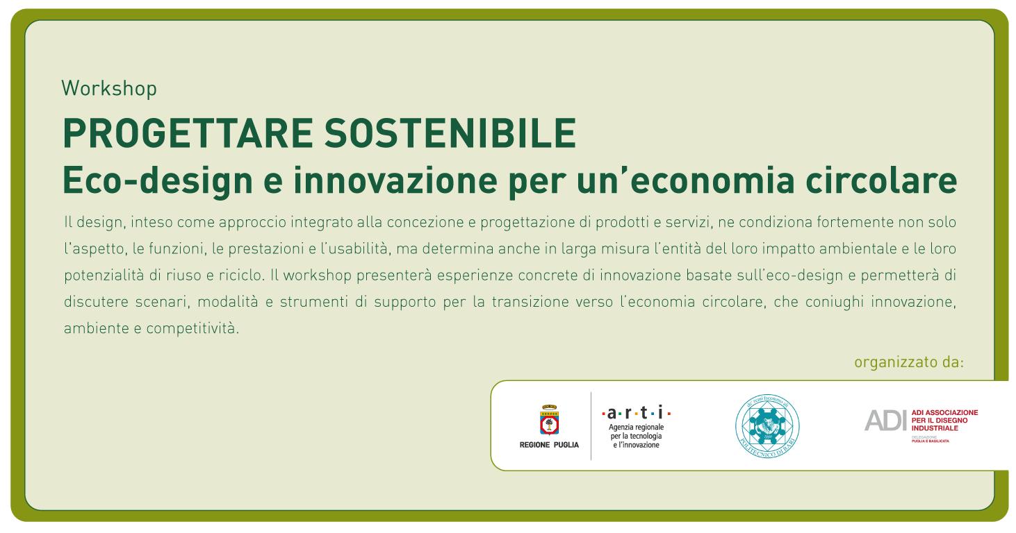 Poliba Calendario.Progettare Sostenibile Eco Design E Innovazione Per Una